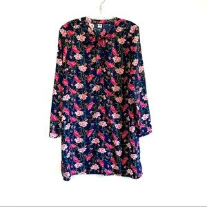 Old Navy floral print front tie shift dress